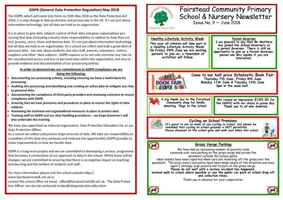 June Newsletter – Fairstead Community Primary & Nursery School