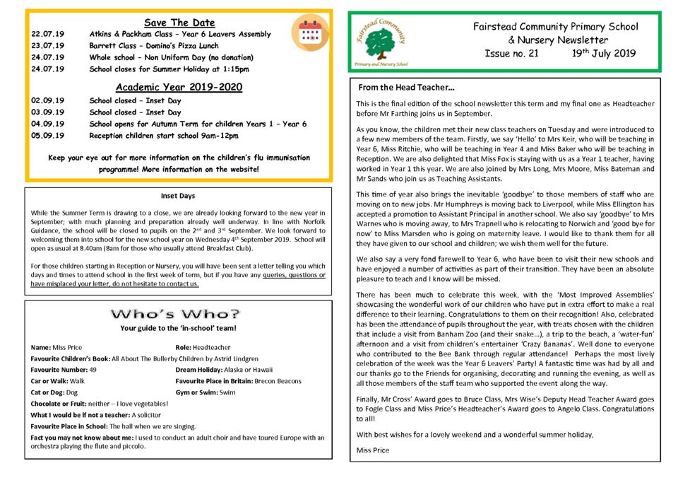 thumbnail of Newsletter 19 _07_19