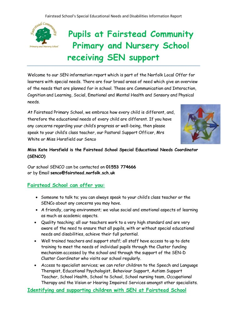 thumbnail of Policy – Special Educational Needs (updated 15.5.18)