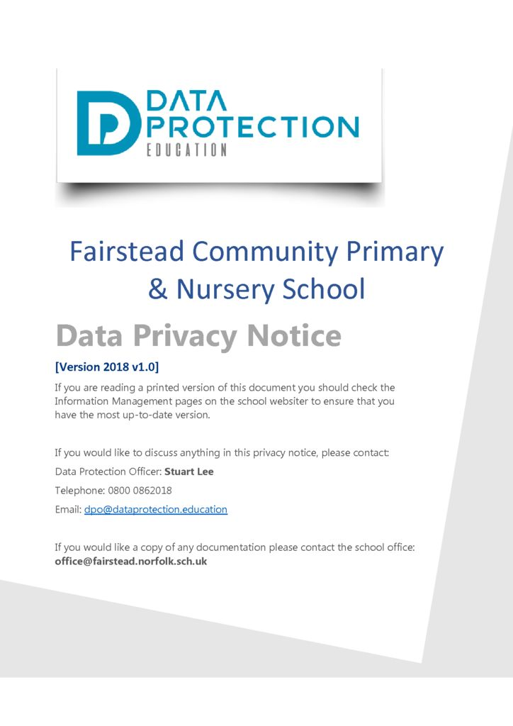 thumbnail of Privacy Notice