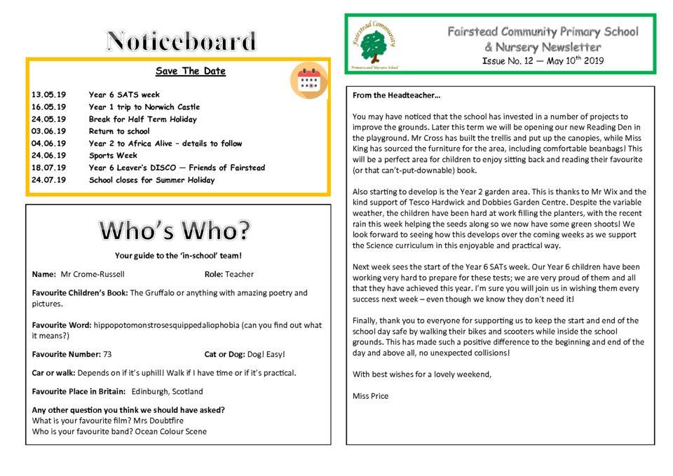 thumbnail of Newsletter 10_05_19