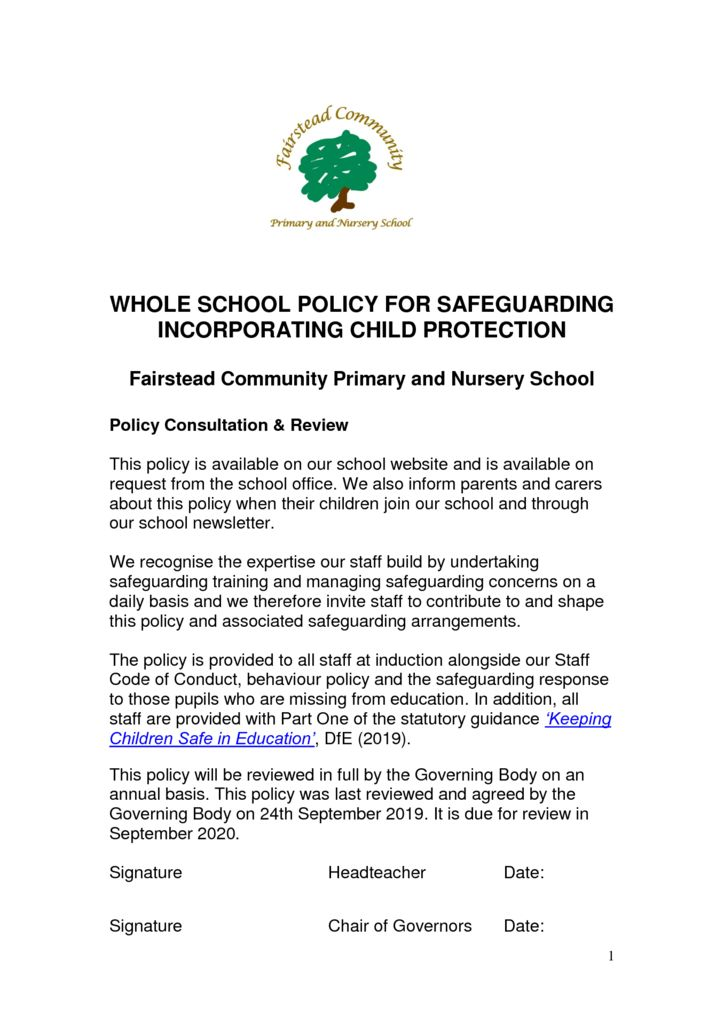 thumbnail of Policy – Safeguarding (24.9.19)
