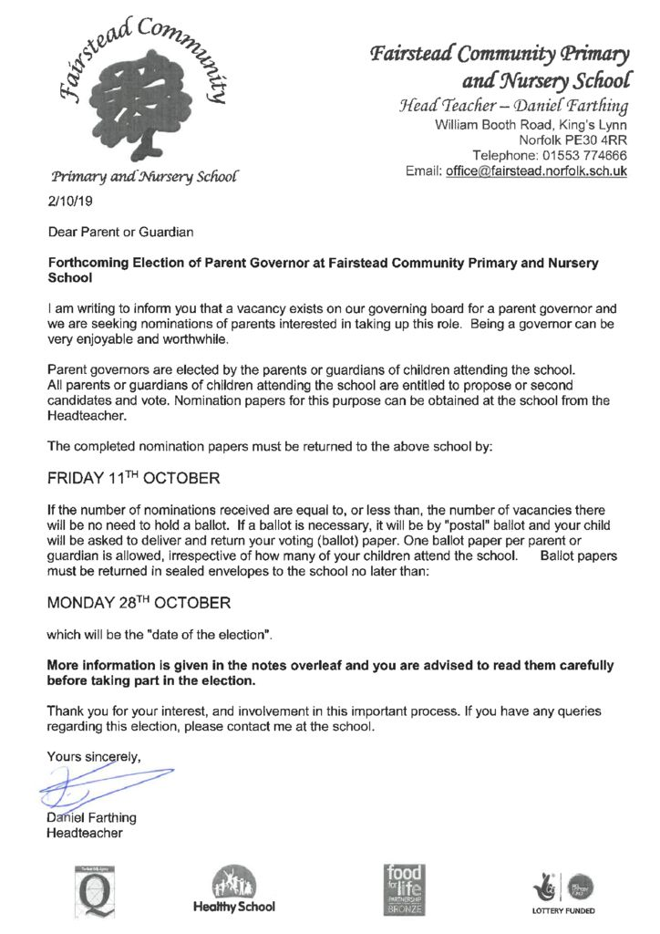 thumbnail of Parent Governor Vacancy