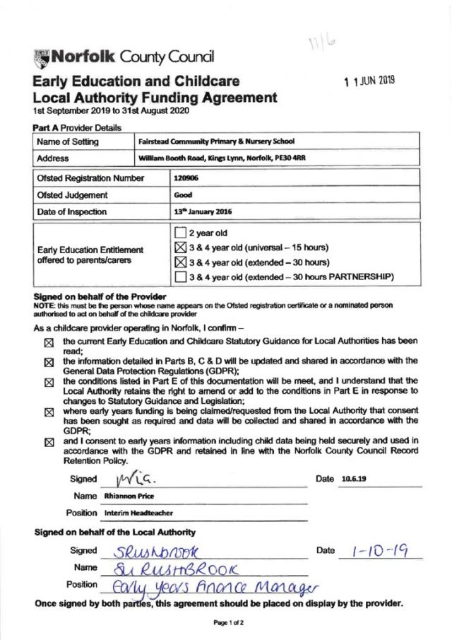 thumbnail of Signed Funding Agreement 2019