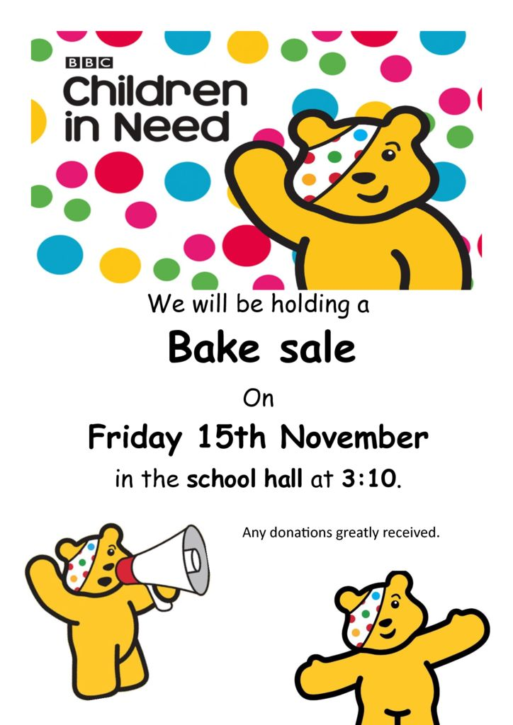thumbnail of Children In Need Bake Sale