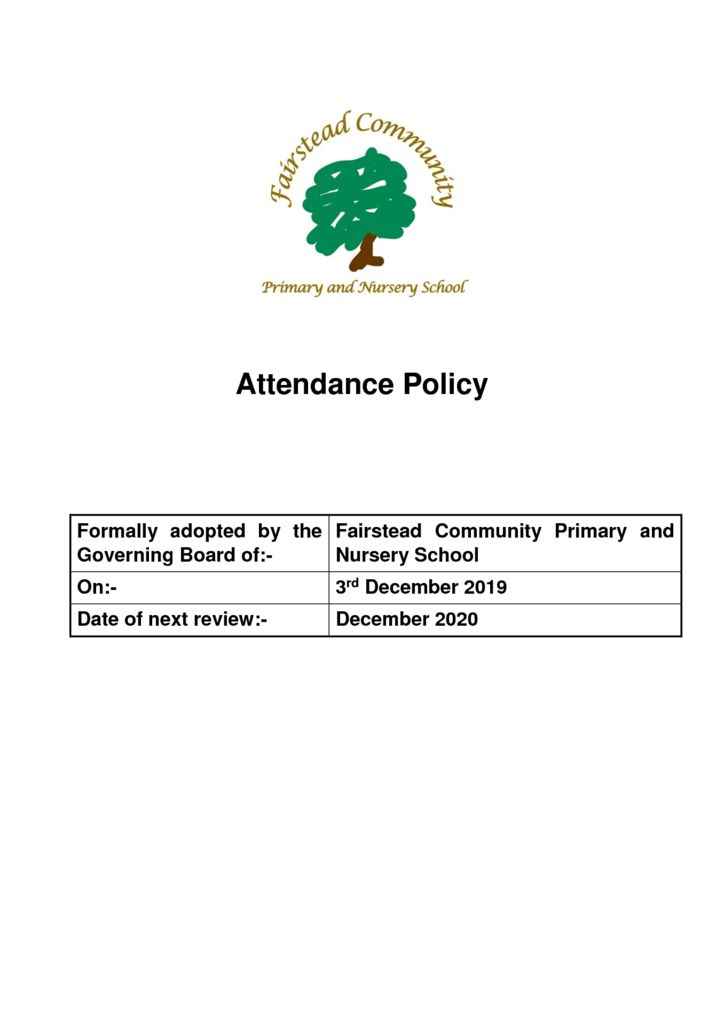 thumbnail of Policy – Attendance (3.12.19)