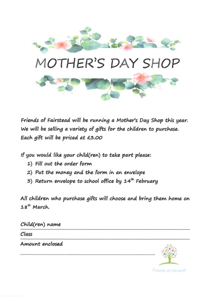 thumbnail of Friends of Fairstead KS1 Mothers Day Shop
