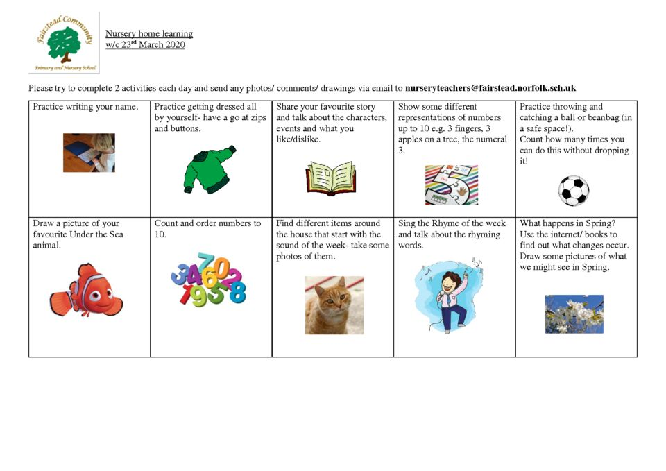 thumbnail of Nursery home learning 23 3 20