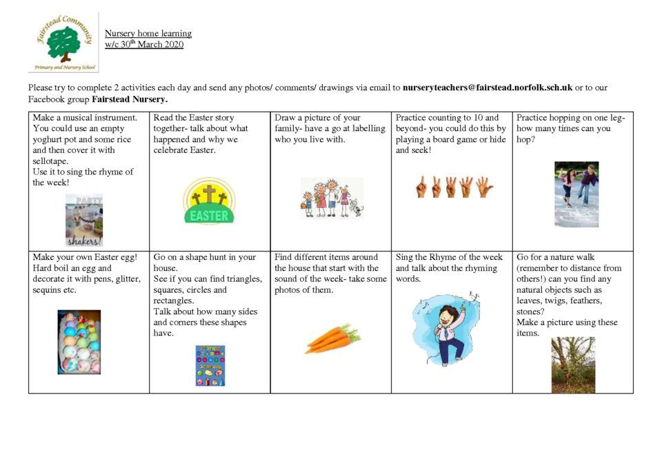 thumbnail of Nursery home learning 30.3.20
