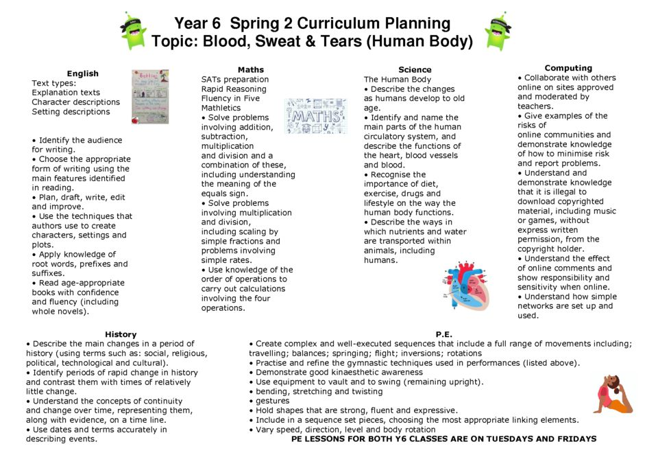 thumbnail of Y6 Spring 2 Curriculum Map