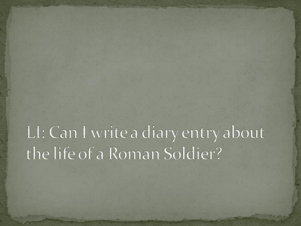 thumbnail of Day in the life of a roman soldier