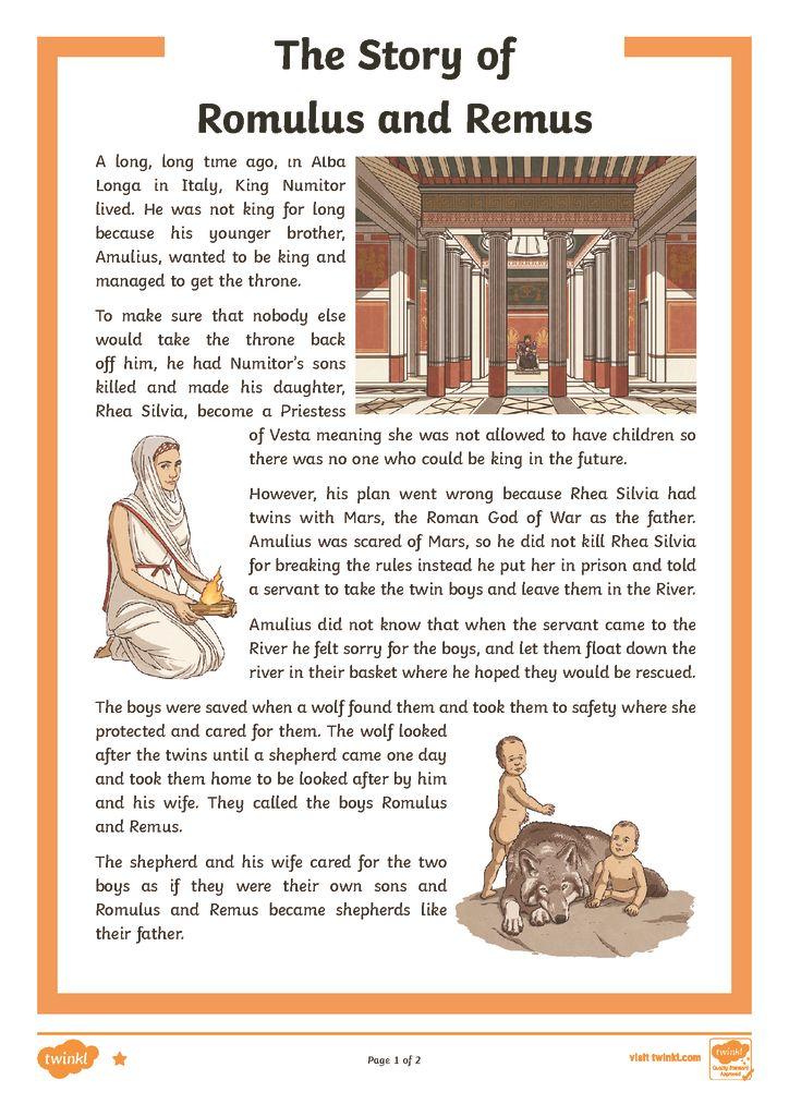 thumbnail of Romulus Remus Story