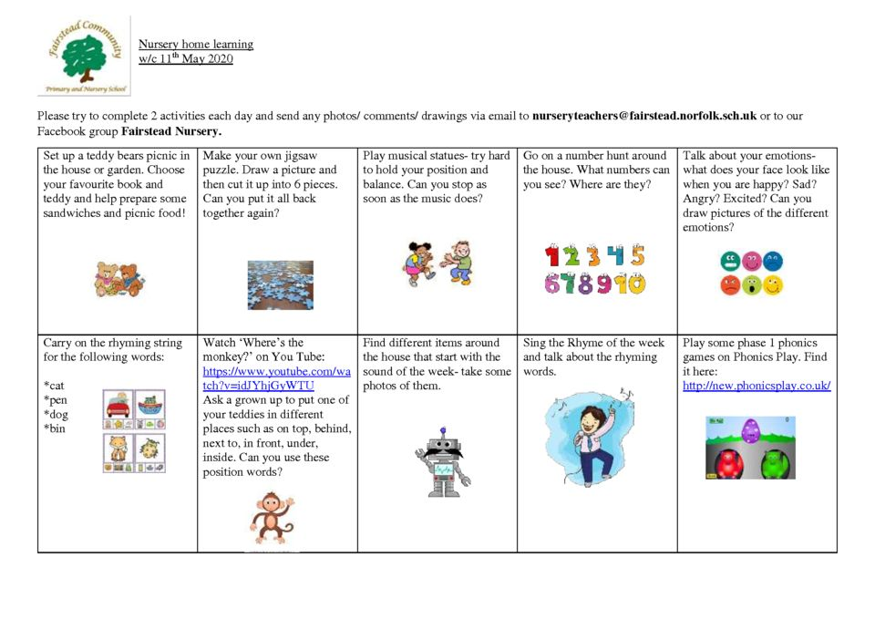 thumbnail of Nursery home learning 11.5.2020
